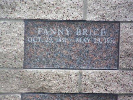 BRICE, FANNY - Los Angeles County, California   FANNY BRICE - California Gravestone Photos