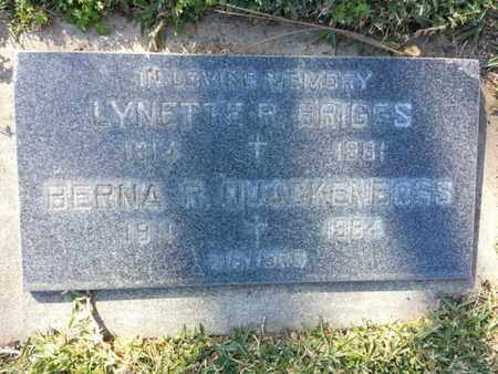 QUAEKENBOSS, BERNA R. - Los Angeles County, California | BERNA R. QUAEKENBOSS - California Gravestone Photos