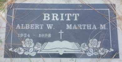 BRITT, MARTHA - Los Angeles County, California | MARTHA BRITT - California Gravestone Photos