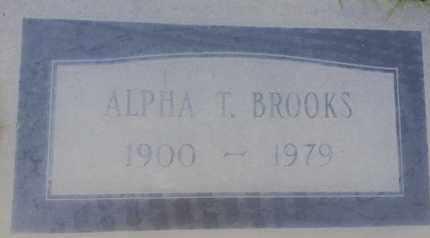 BROOKS, ALPHA - Los Angeles County, California | ALPHA BROOKS - California Gravestone Photos