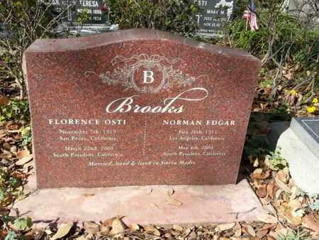 BROOKS, NORMAN EDGAR - Los Angeles County, California | NORMAN EDGAR BROOKS - California Gravestone Photos