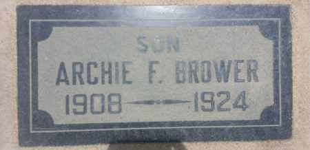 BROWER, ARCHIE - Los Angeles County, California   ARCHIE BROWER - California Gravestone Photos