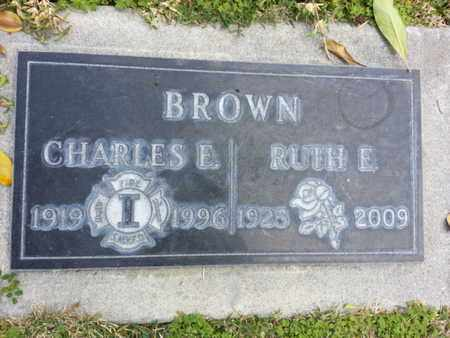 BROWN, CHARLES E - Los Angeles County, California | CHARLES E BROWN - California Gravestone Photos