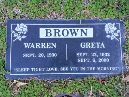 BROWN, GRETA - Los Angeles County, California   GRETA BROWN - California Gravestone Photos