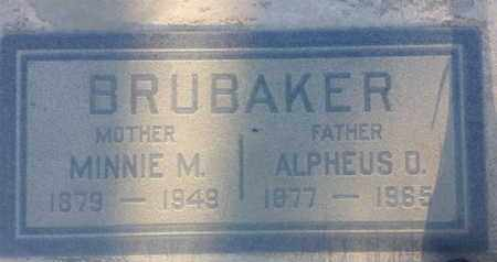 BRUBAKER, MINNIE - Los Angeles County, California | MINNIE BRUBAKER - California Gravestone Photos