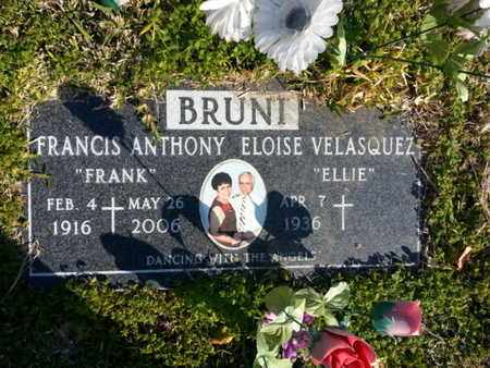 BRUNI, FRANCIS ANTHONY - Los Angeles County, California   FRANCIS ANTHONY BRUNI - California Gravestone Photos