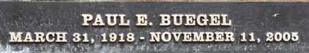 BUEGEL, PAUL E. - Los Angeles County, California | PAUL E. BUEGEL - California Gravestone Photos