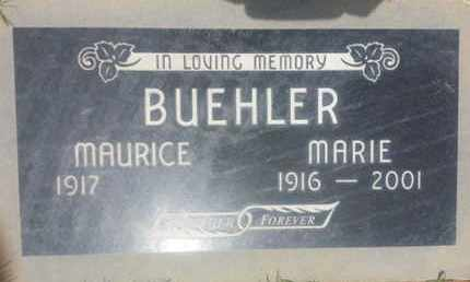 BUEHLER, MAURICE - Los Angeles County, California   MAURICE BUEHLER - California Gravestone Photos