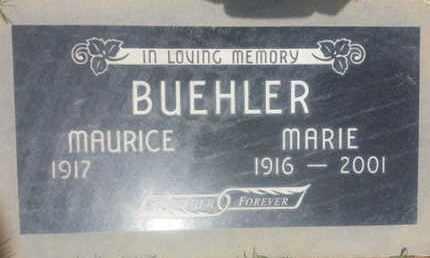 BUEHLER, MARIE - Los Angeles County, California | MARIE BUEHLER - California Gravestone Photos