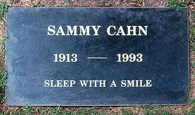 CAHN, SAMMY - Los Angeles County, California | SAMMY CAHN - California Gravestone Photos