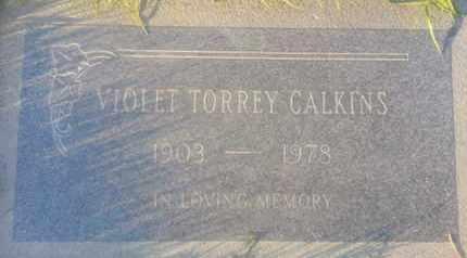 CALKINS, VIOLET - Los Angeles County, California | VIOLET CALKINS - California Gravestone Photos
