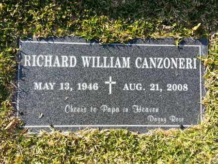 CANZONERI, RICHARD WILLIAM - Los Angeles County, California | RICHARD WILLIAM CANZONERI - California Gravestone Photos