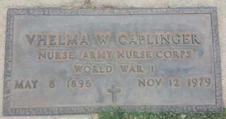 CAPLINGER, VHELMA - Los Angeles County, California | VHELMA CAPLINGER - California Gravestone Photos