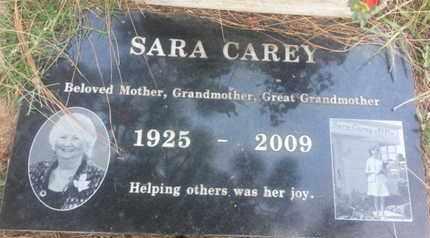 CAREY, SARA - Los Angeles County, California   SARA CAREY - California Gravestone Photos
