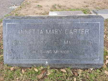 CARTER, ANNETTA MARY - Los Angeles County, California | ANNETTA MARY CARTER - California Gravestone Photos