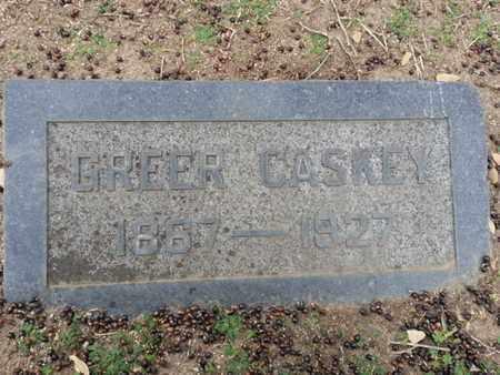 CASKEY, GREER - Los Angeles County, California | GREER CASKEY - California Gravestone Photos