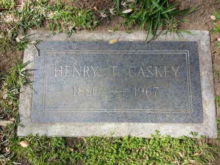 CASKEY, HENRY T. - Los Angeles County, California | HENRY T. CASKEY - California Gravestone Photos