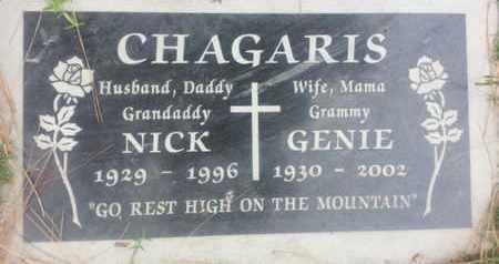 CHAGARIS, GENIE - Los Angeles County, California | GENIE CHAGARIS - California Gravestone Photos