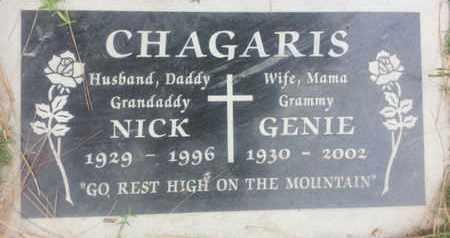 CHAGARIS, GENIE - Los Angeles County, California | GENIE CHAGARIS - California Gravestone Photos