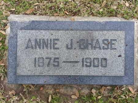 CHASE, ANNIE J. - Los Angeles County, California   ANNIE J. CHASE - California Gravestone Photos