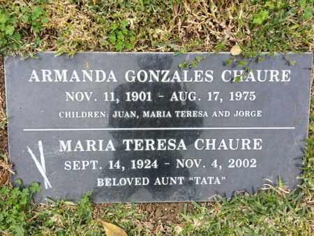 CHAURE, ARMANDA - Los Angeles County, California | ARMANDA CHAURE - California Gravestone Photos