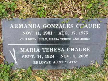 CHAURE, ARMANDA - Los Angeles County, California | ARMANDA CHAURE - California Gravestone Photos