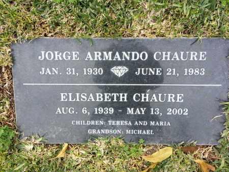 CHAURE, ELISABETH - Los Angeles County, California | ELISABETH CHAURE - California Gravestone Photos