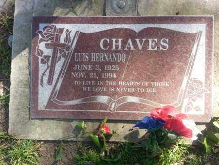 CHAVES, LUIS HERNANDO - Los Angeles County, California | LUIS HERNANDO CHAVES - California Gravestone Photos