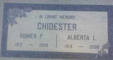 CHIDESTER, ALBERTA - Los Angeles County, California | ALBERTA CHIDESTER - California Gravestone Photos