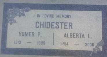 CHIDESTER, ALBERTA - Los Angeles County, California | ALBERTA CHIDESTER - California Gravestone Photos