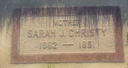 CHRISTY, SARAH - Los Angeles County, California | SARAH CHRISTY - California Gravestone Photos