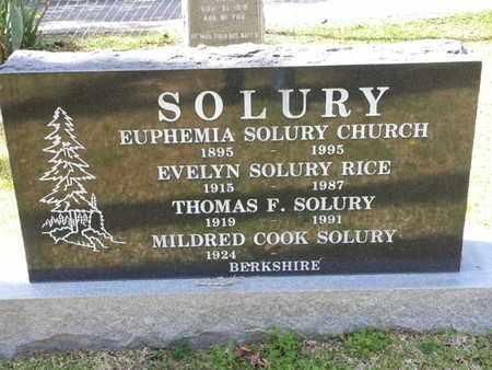 SOLURY, THOMAS F. - Los Angeles County, California | THOMAS F. SOLURY - California Gravestone Photos