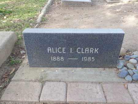 CLARK, ALICE I. - Los Angeles County, California   ALICE I. CLARK - California Gravestone Photos