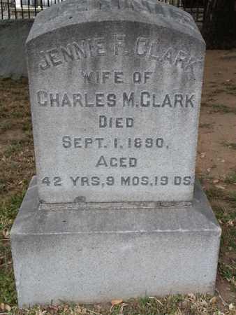 CLARK, JENNIE F. - Los Angeles County, California | JENNIE F. CLARK - California Gravestone Photos