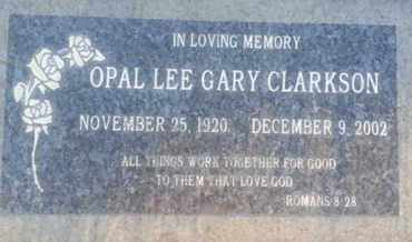 GARY CLARKSON, OPAL - Los Angeles County, California | OPAL GARY CLARKSON - California Gravestone Photos