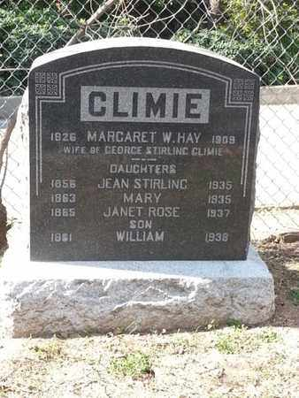 CLIMIE, JEAN - Los Angeles County, California | JEAN CLIMIE - California Gravestone Photos