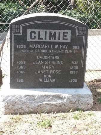 CLIMIE, JEAN - Los Angeles County, California | JEAN CLIMIE - California Gravestone Photos
