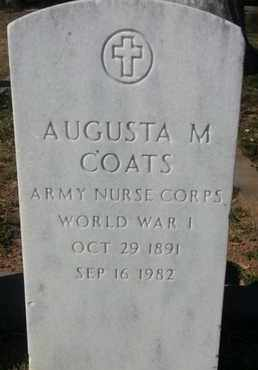 COATS, AUGUSTA M. - Los Angeles County, California | AUGUSTA M. COATS - California Gravestone Photos