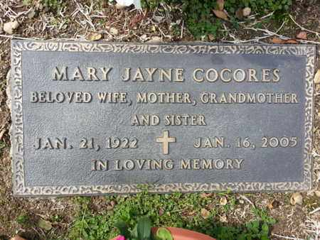 COCORES, MARY - Los Angeles County, California | MARY COCORES - California Gravestone Photos
