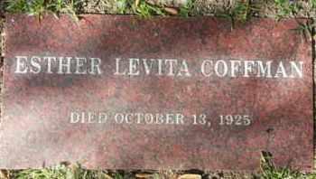COFFMAN, ESTHER LEVITA - Los Angeles County, California | ESTHER LEVITA COFFMAN - California Gravestone Photos