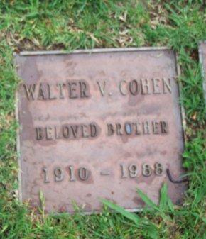 COHEN, WALTER V. - Los Angeles County, California | WALTER V. COHEN - California Gravestone Photos