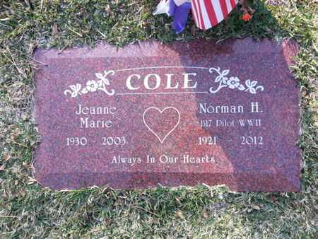 COLE, JEANNE MARIE - Los Angeles County, California   JEANNE MARIE COLE - California Gravestone Photos