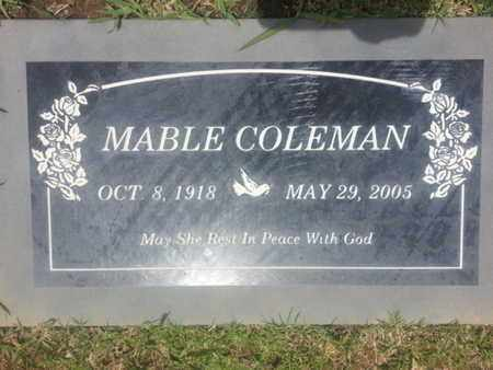 COLEMAN, MABLE - Los Angeles County, California | MABLE COLEMAN - California Gravestone Photos