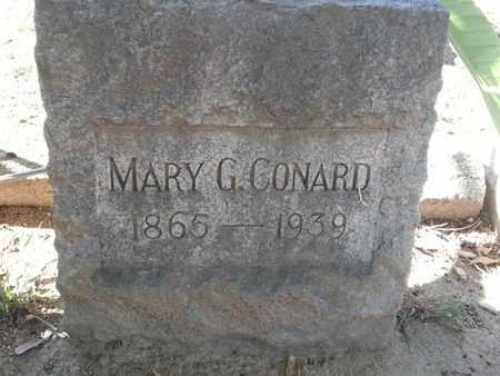 CONARD, MARY G. - Los Angeles County, California   MARY G. CONARD - California Gravestone Photos