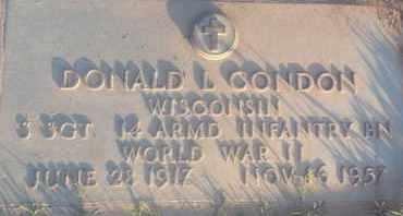 CONDON, DONALD - Los Angeles County, California   DONALD CONDON - California Gravestone Photos