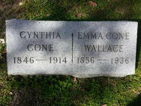 CONE WALLACE, EMMA - Los Angeles County, California | EMMA CONE WALLACE - California Gravestone Photos