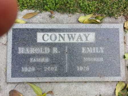 CONWAY, HAROLD R. - Los Angeles County, California   HAROLD R. CONWAY - California Gravestone Photos