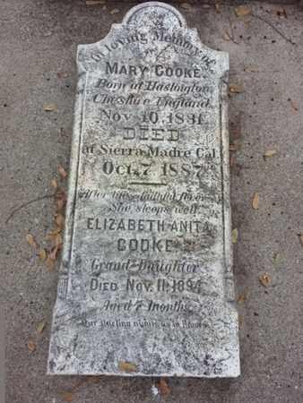 COOKE, MARY - Los Angeles County, California | MARY COOKE - California Gravestone Photos