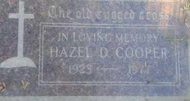 COOPER, HAZEL - Los Angeles County, California | HAZEL COOPER - California Gravestone Photos