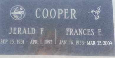 COOPER, FRANCES - Los Angeles County, California | FRANCES COOPER - California Gravestone Photos